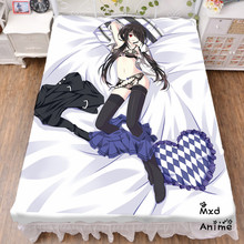 Japanese Anime Date A Live Bed sheet Throw Blanket Bedding Coverlet Cosplay Gifts Flat Sheet cd006