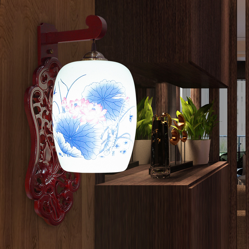 LED E27 Chinese Ceramic Lamps, Creative Gifts, Mirror