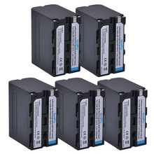 5pc 7200mAh NP-F960 NP-F970 NP F960 F970 Rechargeable Battery for SONY F950 F330 F550 F570 F750 F770 MC1500C 190P 198P 1000C