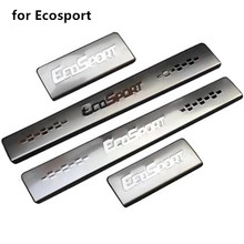Auto parts Stainless Steel Scuff Plate/Door Sill Door Sill scuff plate door sill For Ford Ecosport 2013-2018  Car styling stainless steel inside door sill scuff plate for new kia sorento 2013 2014