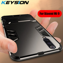 KEYSION Shockproof Phone Case For Xiaomi Mi 9 9 SE Armor Hard PC Soft Silicone TPU Ring Holder Back Cover For Redmi Note 7 Pro(China)