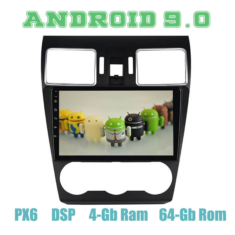 PX6 Android 9 0 Car GPS Radio Multimedia for Subaru wrx XV forester 2016 2017 2018