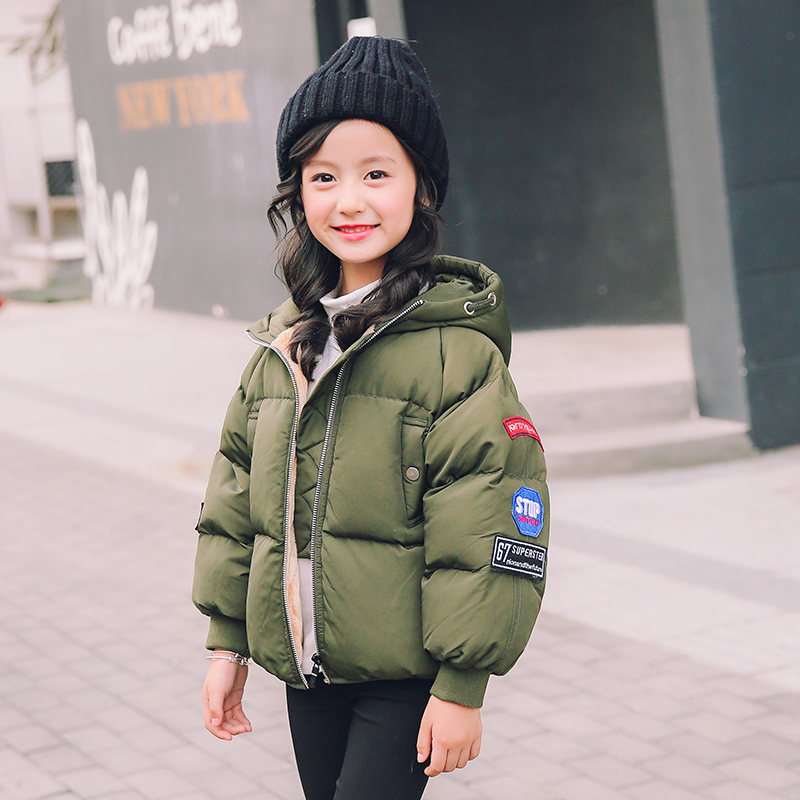 4-14 Years Girls Winter Coat Children Jackets Cotton Parkas Kids Winter Outerwear Thicken Warm Clothes Baby Girls Clothing  2017 2017 winter baby coat kids warm cotton outerwear coats baby clothes infants children outdoors sleeping bag zl910