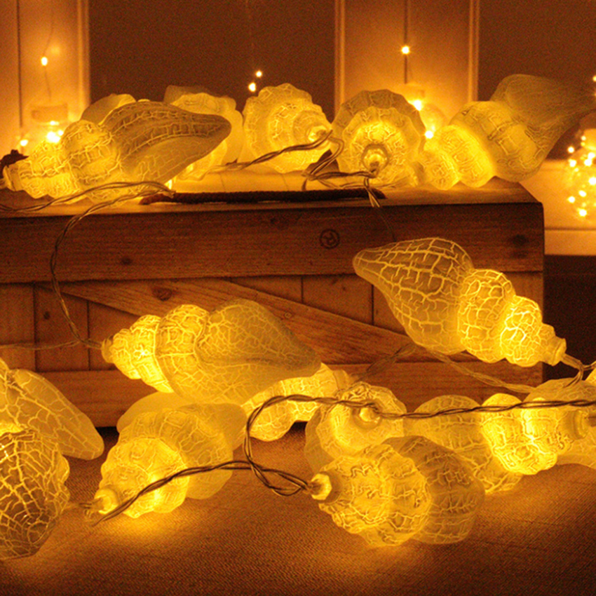 1,5m 10leds 3m 20leds Conch LED String Light Holiday Jul - Festlig belysning - Foto 6