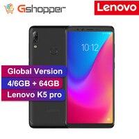 Мобильный телефон lenovo K5 Pro с глобальной версией, Восьмиядерный процессор Snapdragon 636 5,99 дюйма, Android 8,1 16 Мп + 5 МП, две задние камеры
