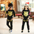 Retail Children Tiger Print sport set jogging sportswear coat+Harem Pants for boys girls tracksuits shampooers Hip Hop clothes
