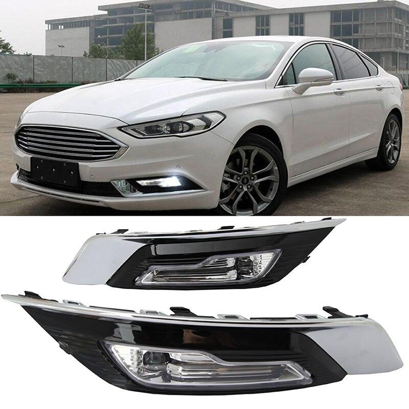 1 set pour Ford Fusion Mondeo 2018 LED DRL Brouillard lampe Feux Diurnes Daylight Étanche Styling lumière