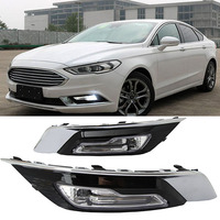 1set for Ford Fusion Mondeo 2018 LED DRL Fog lamp Daytime Running Light Daylight Waterproof Styling light