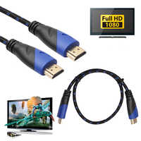 Long HDMI Cable Gold Plated V1.4 AV HD 3D for Xbox HDTV 1M-15M Meters 1080P Digital Cable L3FE 0.5/1/1.8/3/5/10/15 M