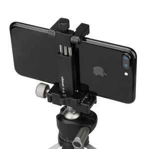 Image 4 - Ulanzi ST 03 téléphone trépied montage pince Smartphone support adaptateur avec chaussure froide pour iPhone X 7 samsung Xiaomi BY MM1 lumière Led