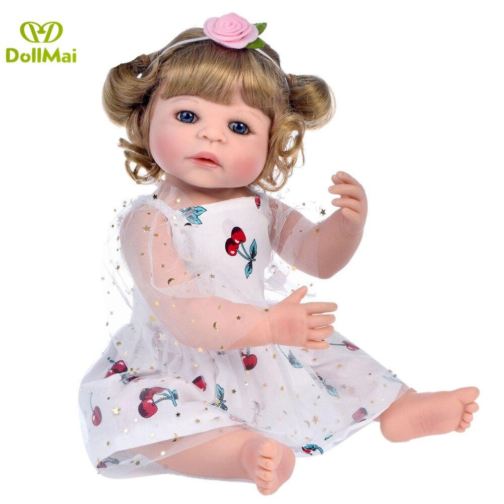 Boneca Reborn bebe corpo de silicone inteiro realista 23