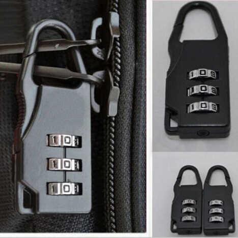 1PCPassword Dígitos Código Saco Fechaduras Cadeados Caso Saco Suitcase Fechamento de Combinação de Bagagem de Viagem
