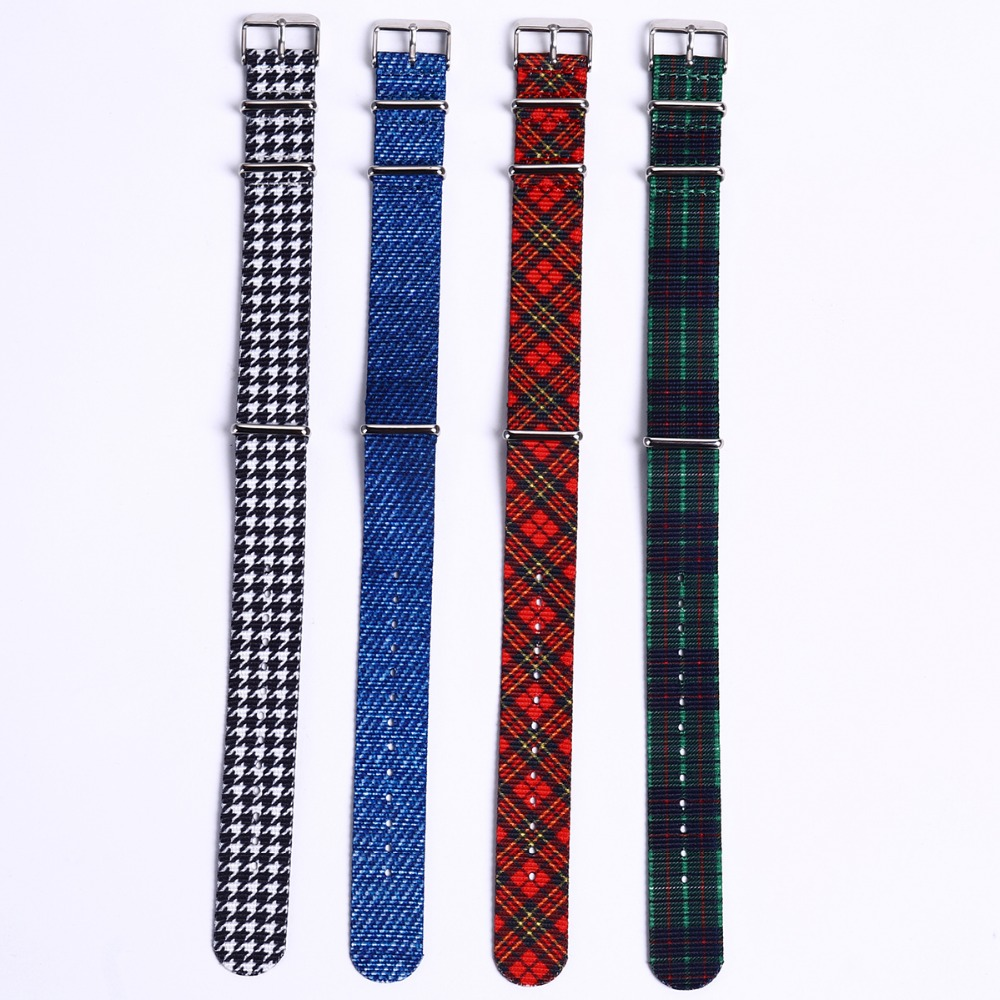 EACHE Special Design NATO 20mm Nylon Watch Straps With Plaid Pattern Women Mens Watch Band Watch Accessories Wholesales