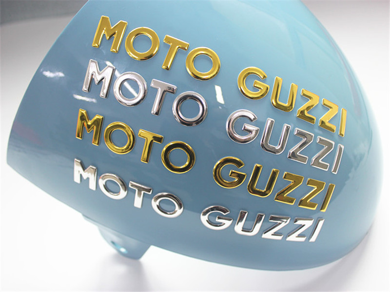 Motorcycle 3D Waterproof  Sticker Moto Guzzi Decals Gold Silver Color