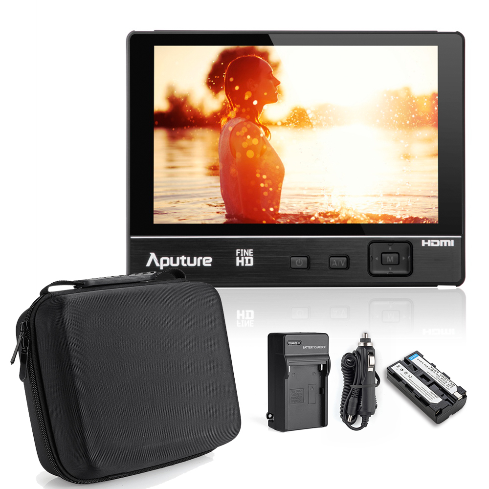 Aputure VS-1 FineHD 7 Inch Ultra HD 1920x1200 LTPS Camera Field Monitor HDMI YPbPr AV Input 450 Brightness 1200:1 Contrast Ratio new aputure vs 5 7 inch 1920 1200 hd sdi hdmi pro camera field monitor with rgb waveform vectorscope histogram zebra false color