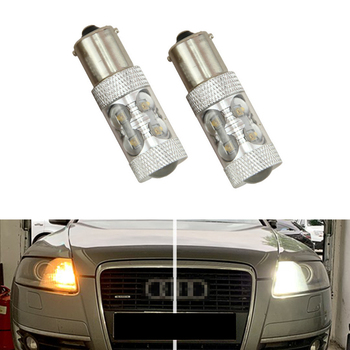 2pcs LED P21W BA15S 1156 DRL for Audi A6 C6 PreFL (2005)
