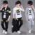 Meninos outono Conjunto de Roupas de Natal Crianças Roupas de Três Peças T-Shirt + Casaco + Calças Roupas Infantis Menino Dos Desenhos Animados Conjunto de inverno Crianças