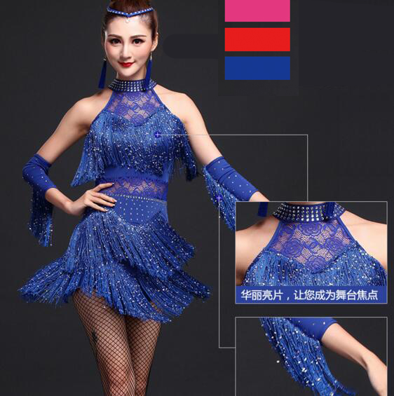 Latin Dance Dress Women/Girls/Lady New Sexy Fringe Salsa/Ballroom/Tango/Cha Cha/Rumba/Samba/Latin Dresses For Dancing