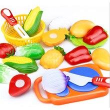 1Set Per Bambini Casa del Gioco Del Giocattolo di Frutta Tagliata di Verdure di Plastica Da Cucina Del Bambino Classici Giocattoli Per Bambini Finta Giochi Per Bambini Giocattoli Educativi