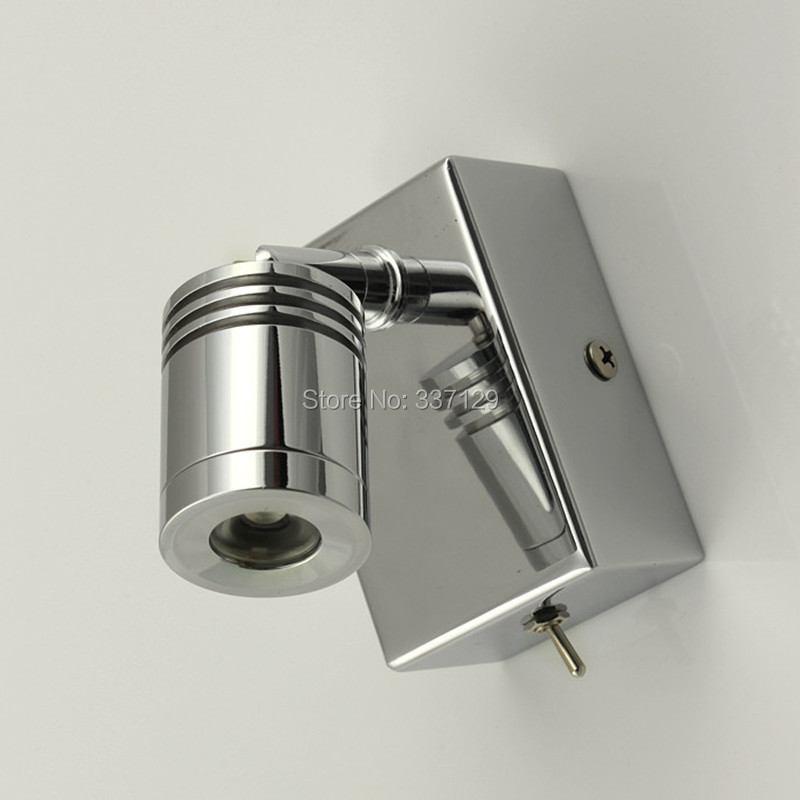 ФОТО Classic Light for Bed Surface mounted CREE LED 3W AC 100V-240V Stainless Steel base in Chrome finish Compact design OEM welcome