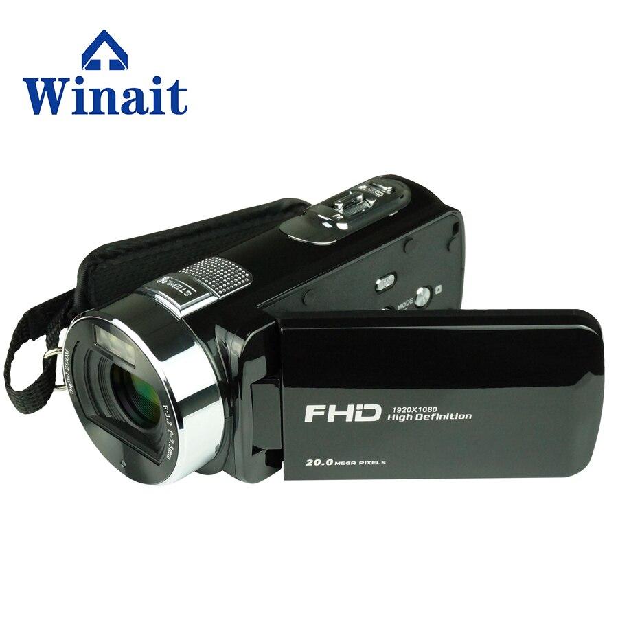 Winait caméra vidéo numérique de haute qualité HDV-F6 caméra vidéo numérique FULL HD 1080 P avec caméra d'affichage TFT 2.7''