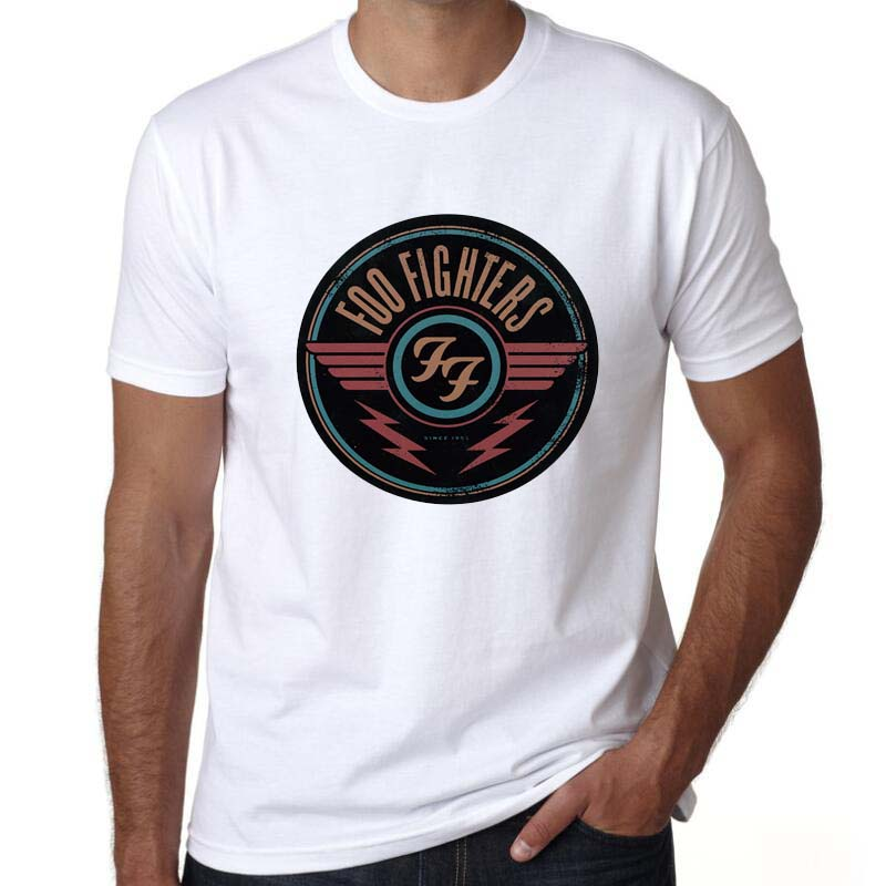 Summer T-shirt Foo Fighters Hard Rock And Roll Band Pattern Design Short Sleeve Men T shirt Casual Tee Tops image