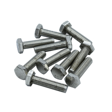 DIN933 304 Stainless Steel Screws External Hex Screws M14 Thread 25-150mm Thread Length Outer Hex Insulation Screw adapter external thread stainless steel 304