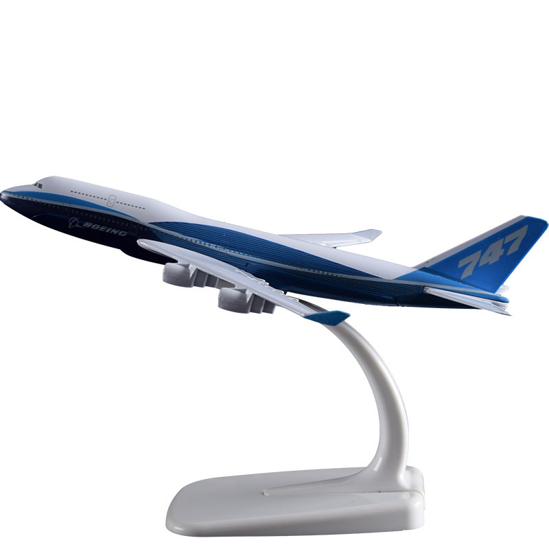 20 cm Prototype Boeing 747-400 Avion Aircraft Modèle B747-400 Avion Modèle Airbus Airways Modèle Solide Alliage Ornement 1:200