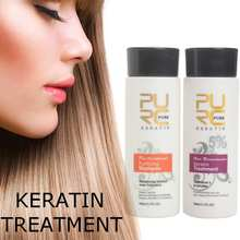PURC Brazilian keratin hair straighten 100ml x 2 hair care p
