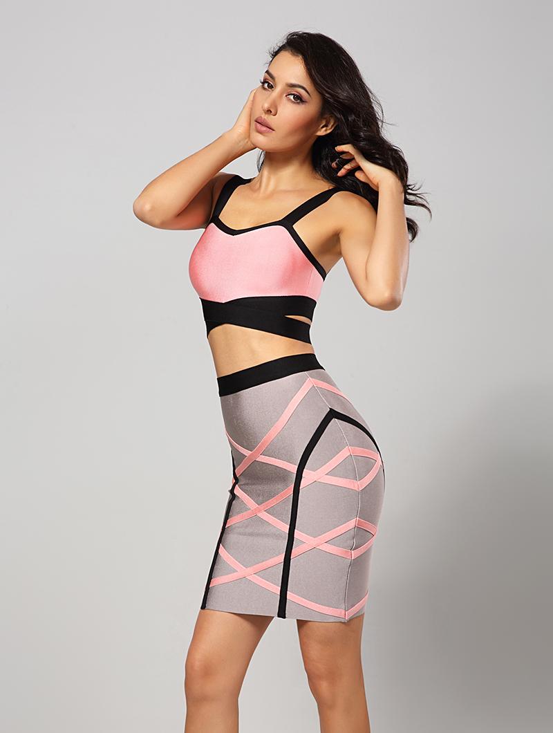 6dd4f8dbea62d US $33.6 20% OFF|2018 new women summer dress two pieces bandage dress  spaghetti strap sexy busty rayon bodycon night club party dresses HL420-in  ...