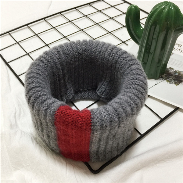 VISROVER/вязаный шарф для девочек и мальчиков, детское кольцо с полосками, безграничный снуд, Детские кашемировые шарфы, Круглый теплый шарф на шею - Цвет: 5