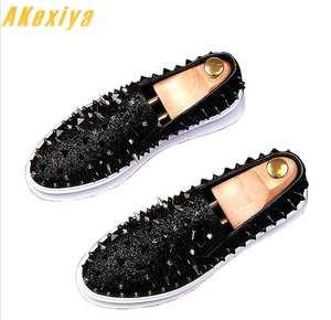 on sale cea26 4741b Akexiya Luxury Men Casual Loafers Male Dress Shoes