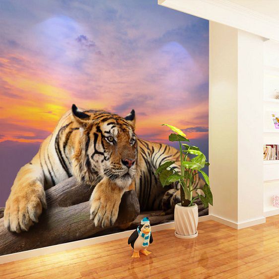 Large Chinese Tiger Animal Murals 8d Wall Photo Murals Vinyl Wallpaper for Living Room 5d Wall Mural Wall paper Papel Murals white horse animal murals 3d animal wallpaper papel mural for dinning room background 3d wall photo murals wall paper 3d sticker