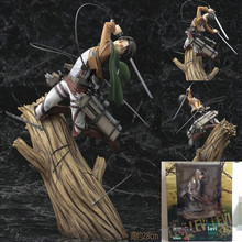 Attack on Titan Levi figure PVC Action Figure Collection Model Toys Doll 17cm Shingeki no Kyojin Figure Collectible Toys