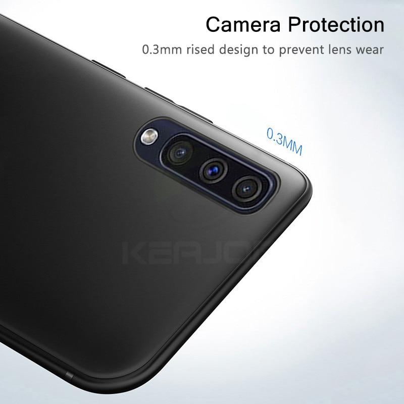 Keajor Case For Samsung Galaxy A50 Case Ultra Thin Soft Matte Silicon TPU Bumper Cover For Samsung Galaxy A30 Phone Case