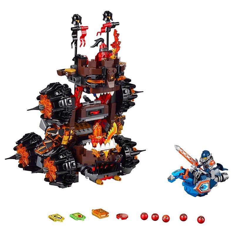 LEPIN Nexo Knights General Magmars Siege Machine of Doom Marvel Building Blocks Kits Toys Compatible Legoe Nexus