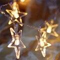 Iluminación de vacaciones 4 m 40 Led de la CC 4.5 V Impermeable Luz de la Secuencia Estrella Lámpara Intermitente Decoración de Navidad de La Boda LLEVÓ Cortina cadena
