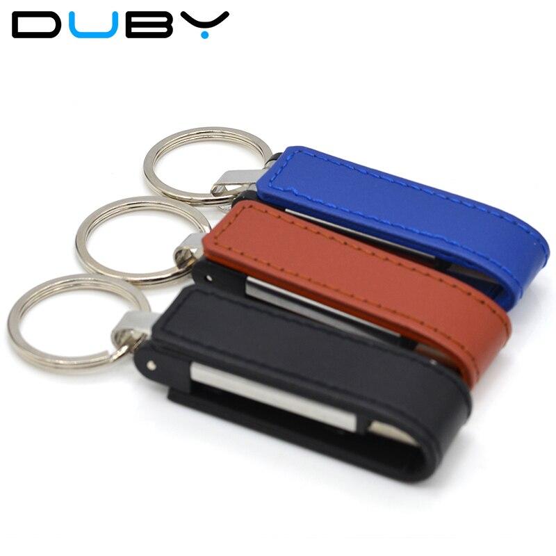2018 fashion leather usb flash drive fur key chains pendriver 4gb 8gb 16gb 32gb commercial memory stick 64gb u disk Good gift
