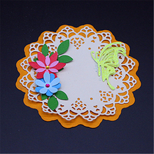 Round flower border Metal Cutting Dies Scrapbooking Embossing DIY Decorative Cards Cut Stencils