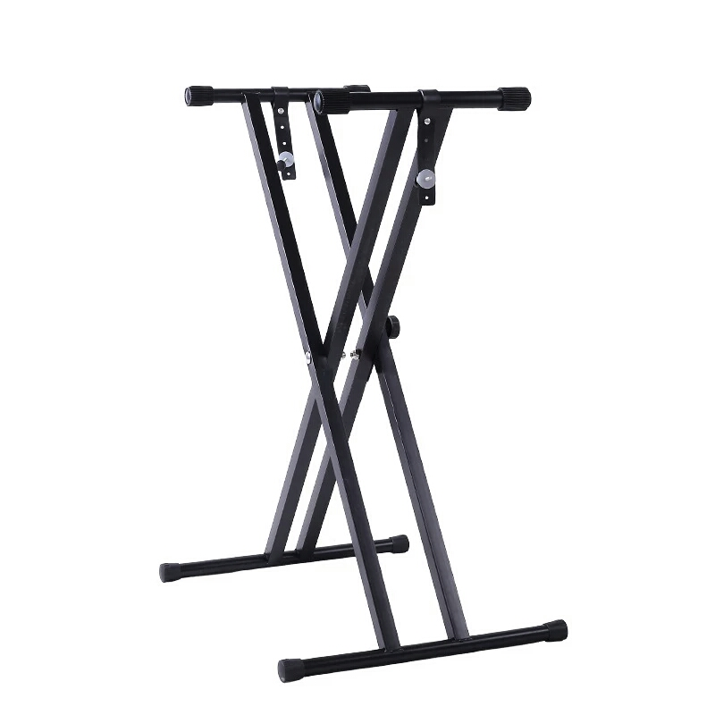 The ONE Black Metal Iron Keyboard Stand Fits 54, 61, 76, And 88 Keys Piano And Keyboard Flexible Keyboard Stand