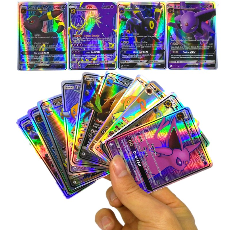 Funny 200 Pcs GX 25 50 100pcs MEGA Shining Cards Game Battle Carte Trading Cards Game Children Pokemons Toy