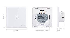 Image 5 - SESOO אלחוטי שלט רחוק מגע מתג עבור RF433 חכם וול אור מתג מזג זכוכית פנל
