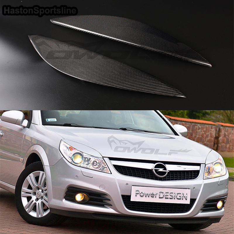 For Vauxhall Opel Vectra 148 Auto Carbon Fiber Headlight Eyelid Cover Headlamp Eyebrow Trim 2006 2016