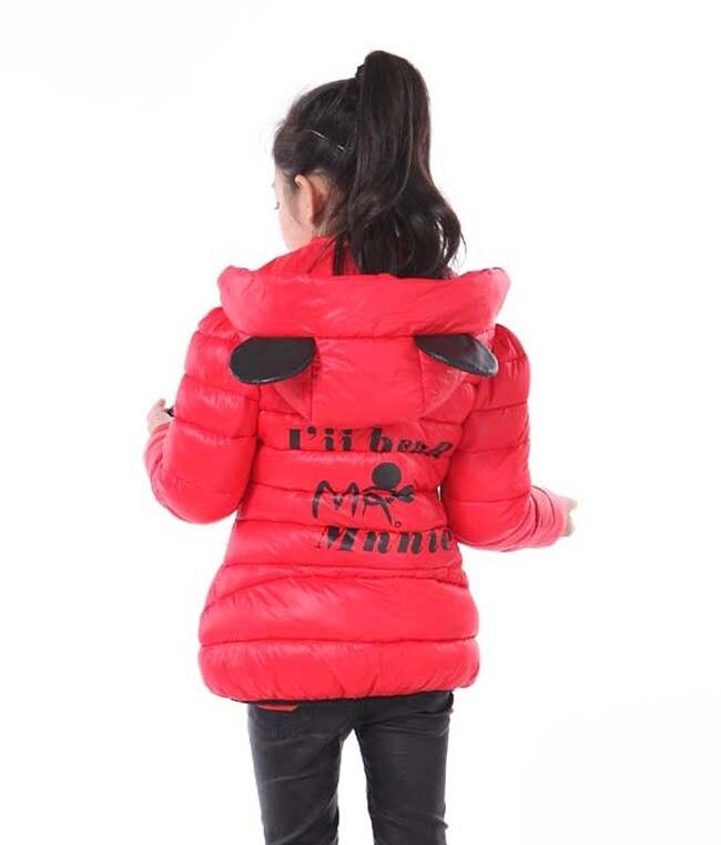 女の子冬コート子供ミニー漫画の冬のジャケットの女の子の綿長袖コート USD United 8