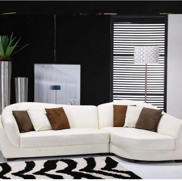 Divano ad angolo divano in pelle divano in pelle ikea distribuzione curvo divano cuscino in - Divano in pelle ikea ...