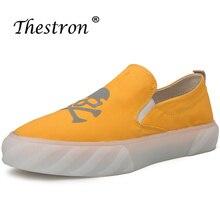 2019 Hot Men Casual Canvas Shoes Yellow Fashion Flats Anti Slip Mens Sneakers Original Youth Walking