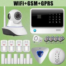 Chuangkesafe G90B WiFi Inalámbrica GSM Alarma Antirrobo Intruso Cámara IP Sensor + Sirena de Destello de Fuego