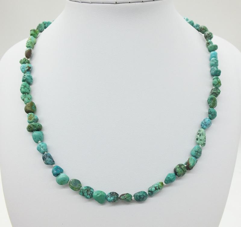 "very beautiful !  6MM Natural Irregular Green Turkish Stone 17"""
