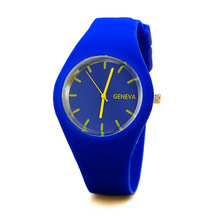 High Quality Brand GENEVA New Fashion Casual Silicone Watches With Japan Quartz Unisex WristWatches For Men Women Gift 2016