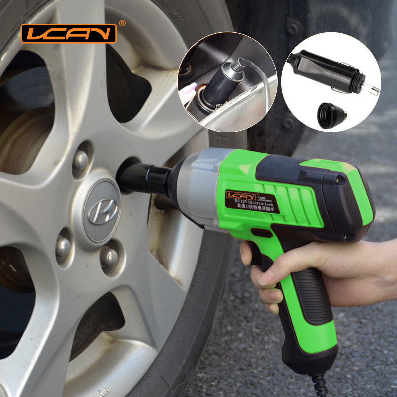 ФОТО 2016 New Upgrade 450N.m Electric Wrench DC 12V Car Impact Wrench Car/SUV Changing Tire Tools1/2 Connector Electric Impact Wrench